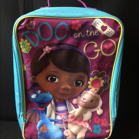 Disney Accessories   Girl Doc Mcstuffins Travel Luggage Bag   Poshmark 920d9969890